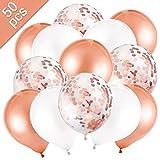 MELLIEX 50 Pièces Ballon Rose Or...
