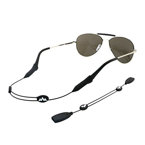 Price comparison product image Philonext 2 Pack Sports Sunglass Holder Strap,  Universal Fit Rope Eyewear Retainer,  Eyewear Retention System