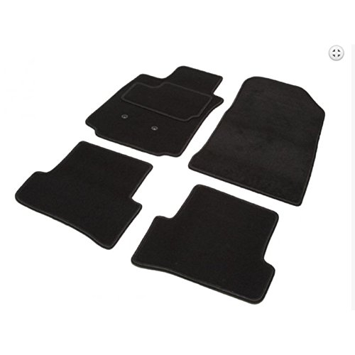 Automatten ELEGANCE Maßgeschneidert, für A5 Coupé (06.07-11.16) Arriere in 2 Teilen - 2 Avants + 2 Rücksitze, schwarz, Tuft, Veloursoptik 550 g/m2+ssc Schicht 1600g/m2 Elegance Coupe