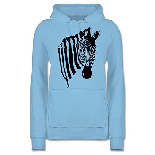 Shirtracer Wildnis - Zebra - XL - Hellblau - JH001F - Damen Hoodie