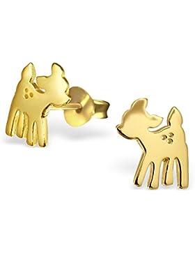 Janusch Rehkitz 925 Sterling-Silber, vergoldet, wilde Tiere Serie