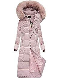 Yam Yam Fashion Damen Mäntel Long Winterjacke Mit Kapuze Pu Kr-7688big-P  5662475b27