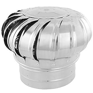 PrimeMatik KH042-VCES Sombrero Extractor de Humos galvanizado Giratorio para Tubo de 200 mm de diámetro