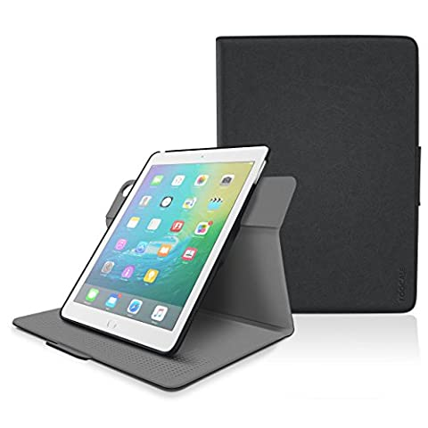 iPad Air 2 / Air 1 Case - roocase Orb 360 Rotating Folio Leather Cover with Sleep / Wake Feature for Apple iPad Air 2 (2014) / Air 1 (2013) with Stand Support Landscape, Portrait & Typing View - Black