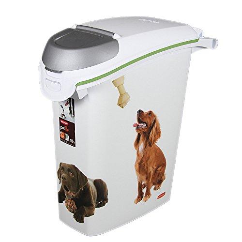 Preisvergleich Produktbild Futtertonne 10kg 50x24cm Tiere Futter Futterbox Futteraufbewahrung Box Tonne