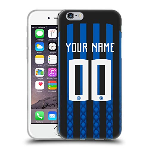 Head Case Designs Personalisierte Individuelle Inter Milan Home Kit 2018/19 Soft Gel Huelle kompatibel mit iPhone 6 / iPhone 6s - Soft Case Kit