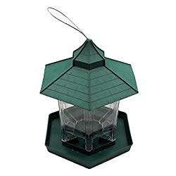 Phenovo Panorama Bird Feeder Premium Hard Plastic ABS Wild Bird Garden Ganging Seed Feed Nut Squirrel Proof Bird House