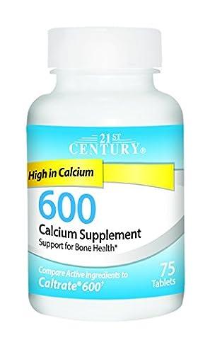 21st Century Health Care, Calcium 600, 75 Caplets