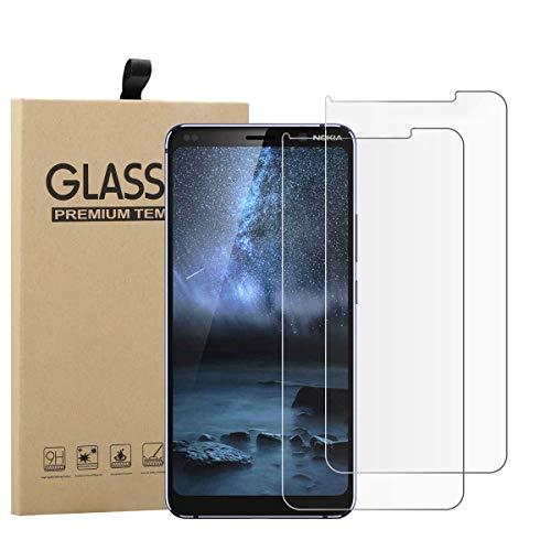 TLING 2 Pezzi Vetro temperato Compatibile con Nokia 9 PureView, Vetro temperato Pellicola Protettiva Compatibile con Nokia 9 PureView