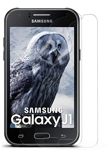 moex 2X Samsung Galaxy J1 (2015)   Schutzfolie Klar Bildschirm Schutz [Crystal-Clear] Screen Protector Display Handy-Folie Dünn Bildschirmschutz-Folie für Samsung Galaxy J1 2015 Bildschirmfolie
