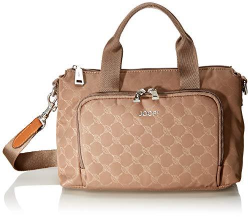 Joop! Damen Nylon Cornflower Sporty Cati Handbag Shz Henkeltasche, Braun (Lattemacchiato), 13x17x28 cm
