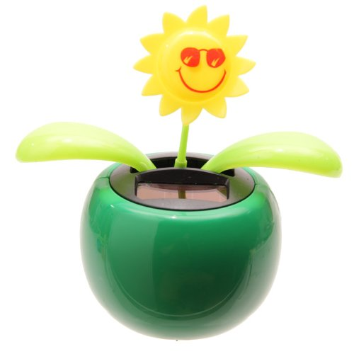 ed7faa66df29d PK Green Solar Powered Dancing Flower Plant Pot - Flip Flap Sunflower  (Green)