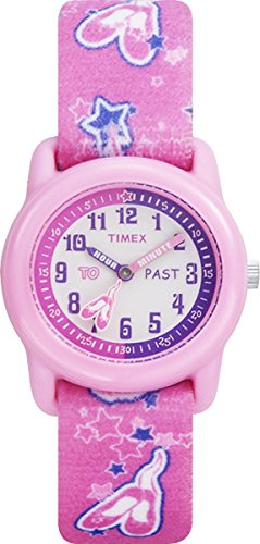 timex-girls-t7b1514e-quartz-time-teacher-watch-with-multicolour-dial-analogue-display-and-pink-elast