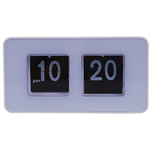 FreshGadgetz Desktop Retro Flip Schreibtisch Uhr, Retro Flip Clock, Flip Wecker, Digital Flip Clock, Stilvolle Uhr, Vintage Flip Uhr