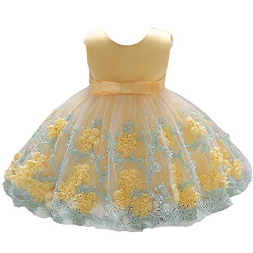 mama stadt Baby Mädchen Prinzessin Kleid Blumen Stickerei Ärmellos Hochzeit Festlich Partykleid für Kleinkinder Kinder/80