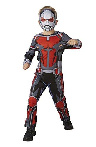 Kostüm Antman - Rubie 's 640486l Offizielles Marvel Avengers ant-man Classic Kind costume-large Alter Höhe 128cm, Jungen, 7-8