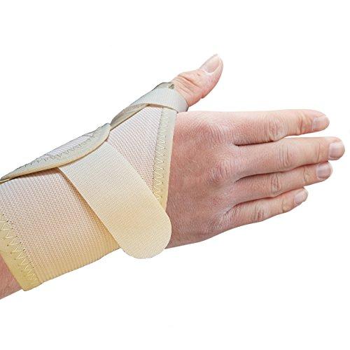 Actesso Daumenschiene Daumenbandage (Beige, Mittelgroß Links). Elastische Medizinische Daumenorthese - bandage für Daumenschmerzen, Verstauchungen des Daumen und Sehnenscheidenentzündung oder Daumenverletzung