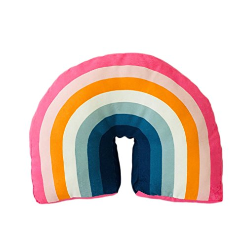YeahiBaby Rainbow Baby Sleeping Pillow Memory Foam Sleeping Cushion para Evitar la Cabeza Plana Anti alergia Plagiocephaly Roll Pillow