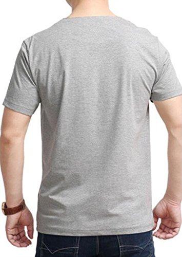 Sommer Männer Lässig Kurzärmelige Stilvolle Einfachheit Größe Einfarbig Kurze Ärmel T-Shirts Black