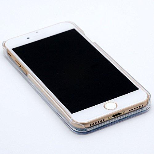 Coque iPhone 7, Hamyi Liquide Bling Paillettes Sables Mouvants avec étoiles Rigide Housse Etui pour Apple iPhone 7 (2016) (Bleu) Rose