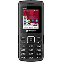 Micromax X380 (2400 mAh, BT Calling, Screen Capture) (Black)