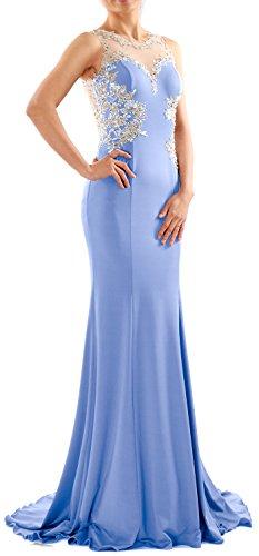 MACloth - Robe - Moulante - Sans Manche - Femme Bleu ciel