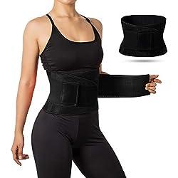 Jueachy Cinturón de Cintura para Mujeres, Cinturón Transpirable Cintura Cuello Trimmer Faja Moldeadora Grasa de Grasa Quema para Adelgazar el Vientre para Perder Peso (Negro, L(Abdomen:80-89cm))