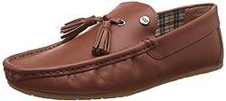 Carlton London Mens Nico Tan Leather Loafers and Moccasins - 9 UK/India (43 EU)