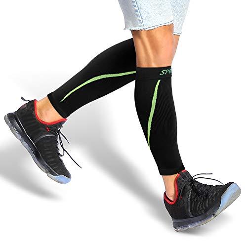 Yosoo Health Gear Calcetines de Compresión para Hombre y Mujer, Medias de Compresión de Running, 20 mmHg-25 mmHg, Aumentar la Circulación Sanguínea y Mejorar el Rendimiento (Negro, L)