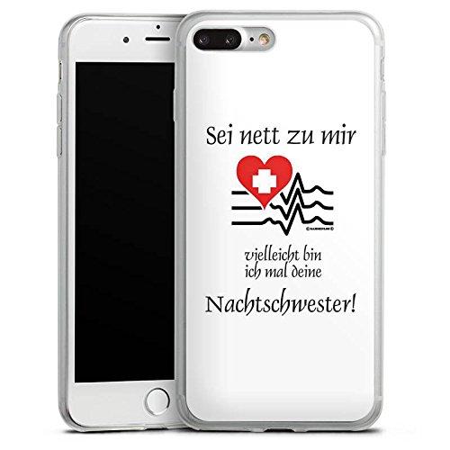Apple iPhone 8 Slim Case Silikon Hülle Schutzhülle Nachtschwester Krankenschwester Sprüche Silikon Slim Case transparent