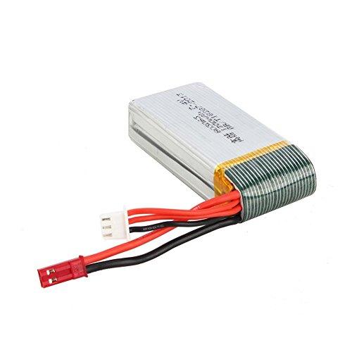 7,4V 1200mAh Lipo Akku Batterie für MJX X101 Wltoys V353 V353B V666 V262 A949 A969 A979 K929 V912 V915 yizhan x6 Ersatzakku Ersatzteile - 4