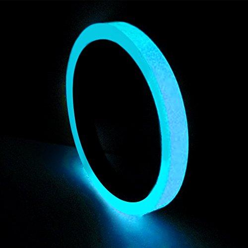 1/1,5/2/3/4/5 cm x 3 m PVC Leuchtband selbstklebend Nachtsicht Glow Sicherheit Warnung Sicherheit Bühne Einzigartiges Home Decor, blau