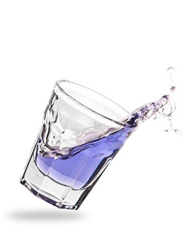 NDED Acryl Dappen Glas - Nageldesign Kristall-Dappen Dish für Acryl-Liquid, Pinselreiniger, Flüssigkeit und Nail Reiniger