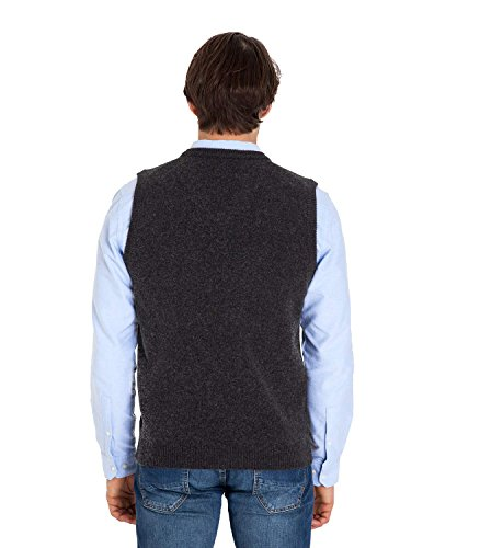 WoolOvers Pull sans manches - Homme - Laine dagneau Anthracite