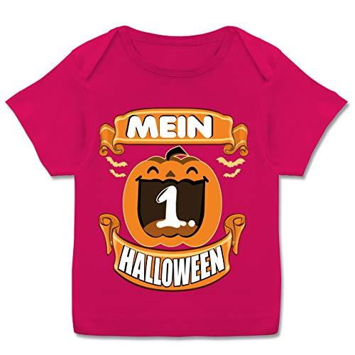 Halloween Baby - Mein 1. Halloween - Kürbis - 68-74 (9 Monate) - Fuchsia - E110B - Kurzarm Baby-Shirt für Jungen und Mädchen (Gute 2019 Ideen Halloween-kostüm)