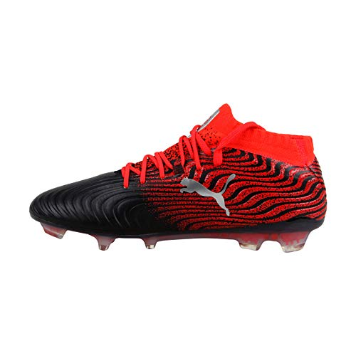 Puma One 18 1 Syn Fg Mens Black Synthetic Athletic Lace Up Soccer Shoes 10