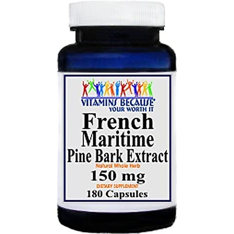 French Maritime Pine Bark Extract 180 Capsules - Blood/Cholesterol/Heart by sallyashop