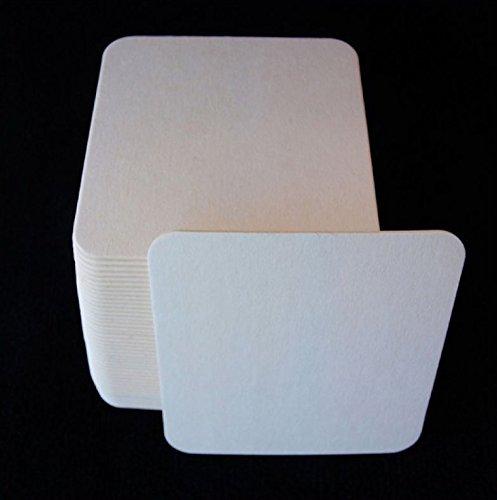 Bierdeckel Rohlinge aus Original Bierfilz 9,3 x 9,3 cm, 1,4 mm stark (100er Set)