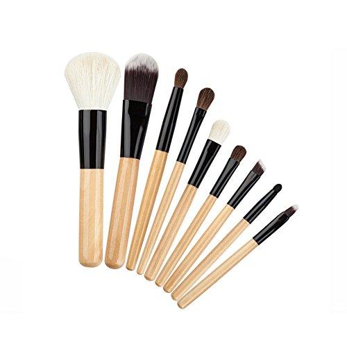 Hrph 9pcs Set Pinceaux de Maquillage Laine Professionnel Outils Cosmétiques Eyeshadow Lip Foundation pour Femme Fille