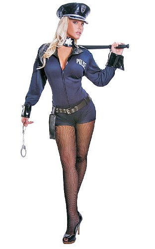 dress up America Erwachsene Sexy Police Officer Kostüm-Set, XL