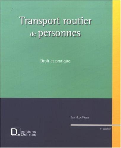 Transport routier de personnes : Droit et pratique