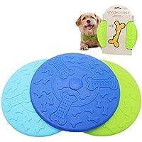 artistic9(TM) Pet Dog Frisbee disco volador diente resistente al aire libre grande entrenamiento del perro Fetch juguete