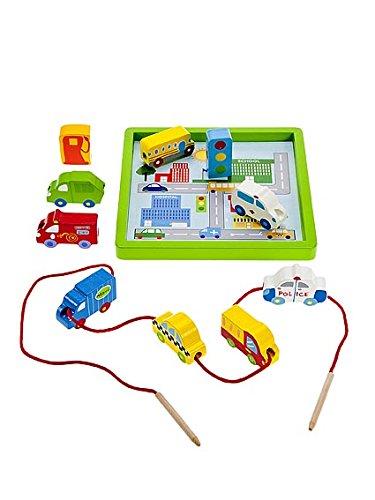 Holzspielzeug Auto & Lastwagen Spielset zum Einfädeln von Mousehouse Geschenke