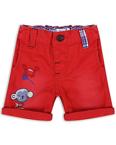 The Essential One - Baby Kinder Jungen Leinen Kurze Hose - 12-18 M - Rot - EOT232