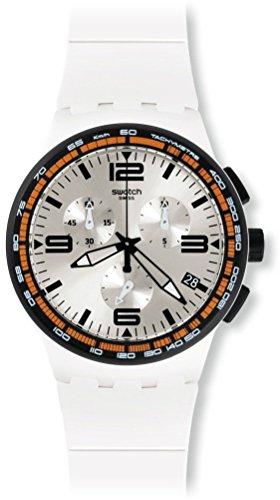 Swatch Orologio da polso uomo cronografo al quarzo in silicone susw405