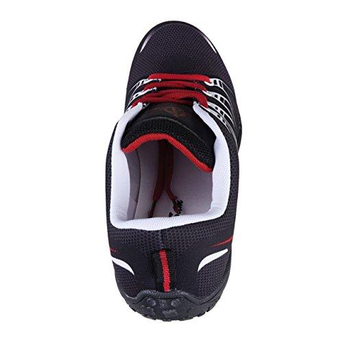 HSM , Baskets pour homme noir/rouge