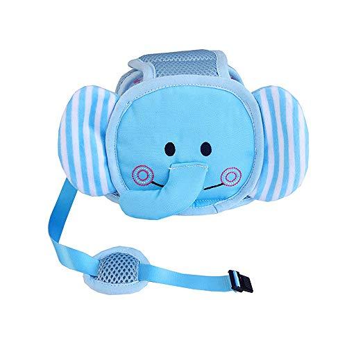 Chief Junge Fire Kostüm - Vektenxi Robustes Baby Kopfschutz Helm Sicherheit Kopfschutzkissen mit verstellbaren Trägern, Elefantenhut für Säuglingskleinkinder Lernen zu gehen