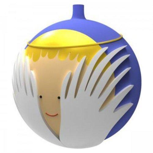 Alessi amj13 6 angioletto palla per albero di natale, vetro soffiato, multicolore