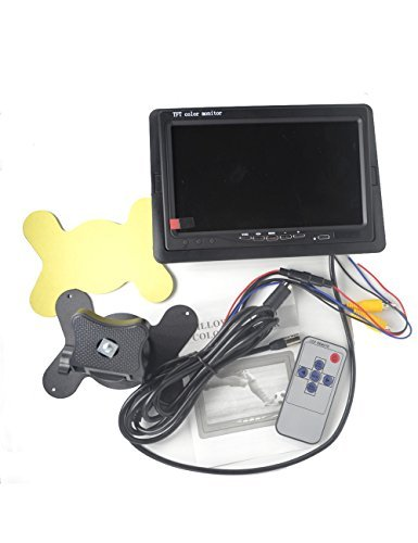 Padarsey 7 LED Backlight TFT LCD Monitor for Car Rearview Cameras Car DVD Serveillance Camera STB Satellite Receiver and other Video Equipment