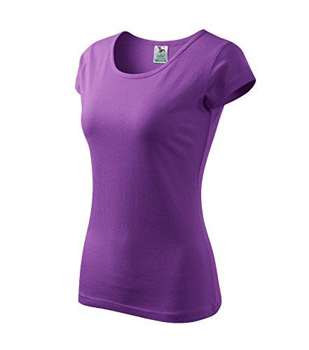 T-Shirt für Damen Ladies Shirt Pure - Größe und Farbe wählbar- (M, lila)